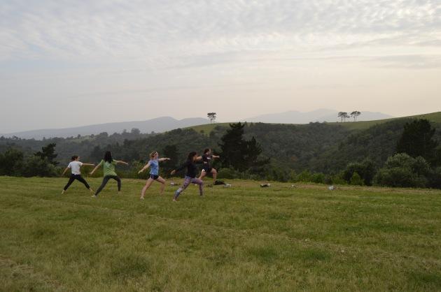 Yoga at Ingwe, SA