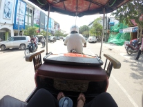 Tok tok ride in cambodia
